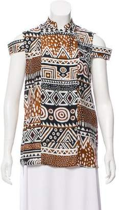 Just Cavalli Abstract Pattern Cutout Top