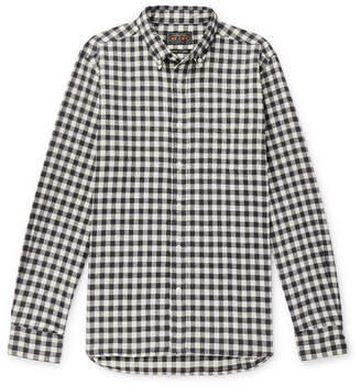 Beams Gingham Cotton-Flannel Shirt