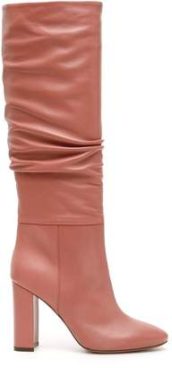 L'Autre Chose Mid-Calf Chunky Heel Boots