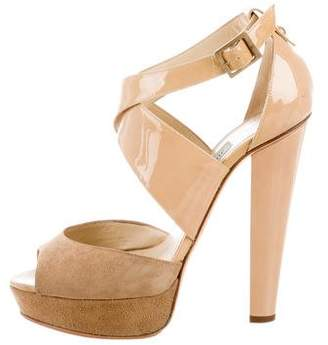 Jimmy Choo Patent Leather Platform Sandals