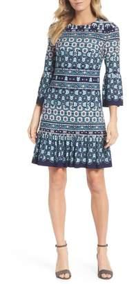 Eliza J Bell Sleeve A-Line Jersey Dress