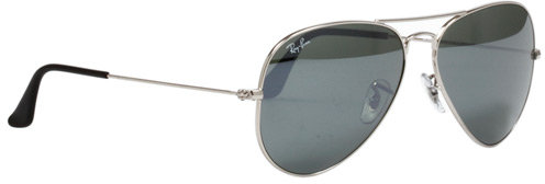 Aviator Large Metal 58 mm Sunglasses in Silver Mirror- w3277 - by Ray-Ban