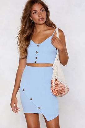 Nasty Gal Stay With Me Crop Top and Skirt Set