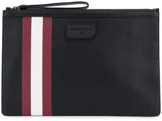 Bally stripe detail clutch bag