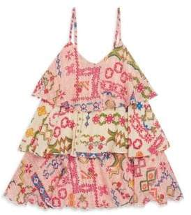 Hemant & Nandita Toddler's, Little Girl's& Girl's Paisley Tiered Tank Dress