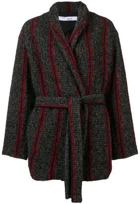 IRO contrast belted coat