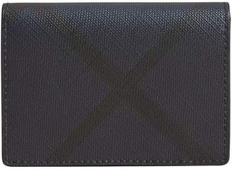 Burberry Check and Leather Folding Card Case