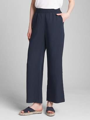 Gap Wide-Leg Pants with Smocked Waist in TENCEL