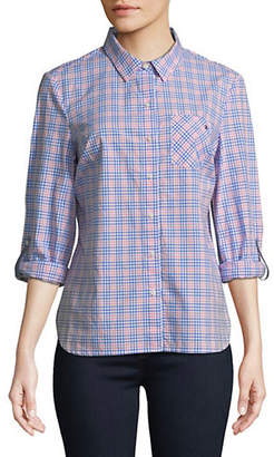 Tommy Hilfiger Plaid Cotton Button-Down Shirt