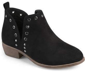 Brinley Co. Womens Stud Faux Suede Side Slit Booties