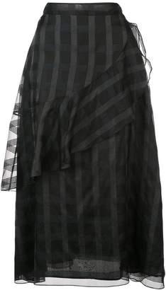 Jill Stuart patterned ruffle skirt