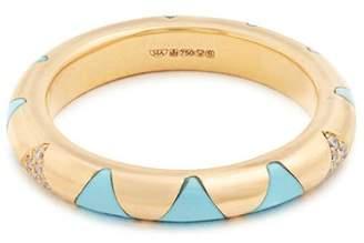 Marc Alary Diamond, turquoise & yellow-gold ring