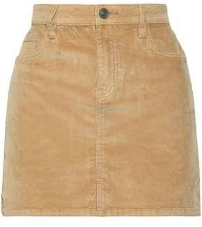 Current/Elliott The 5 Pocket Cotton-blend Corduroy Mini Skirt
