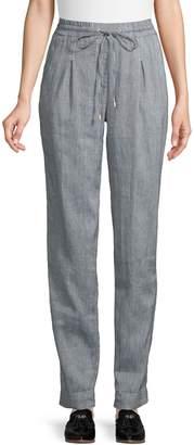 Jones New York Pull-On Linen Cotton Blend Pants