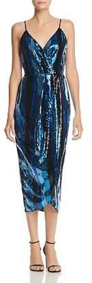 WAYF Stevie Sequin Stripe Slip Dress