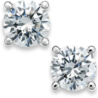 Macy's X3 Certified Diamond Stud Earrings in 18k White Gold (1/2 ct. t.w.), Created for