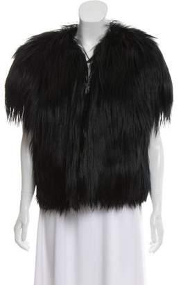 Cassin Cap Sleeve Fur Vest