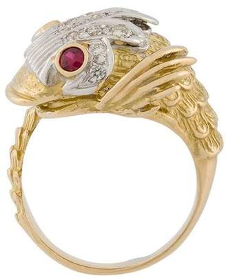 Leon Yvonne diamond and ruby fish ring