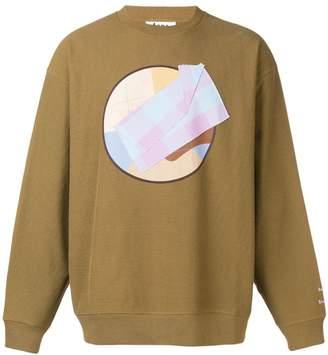 Acne Studios Printed and appliqued sweatshirt