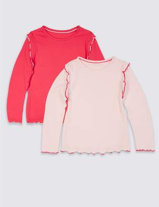 Marks and Spencer 2 Pack Cotton Top with Stretch (3 Months - 7 Years)
