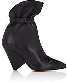 Isabel Marant Women's Lileas Leather Ankle Boots - Black