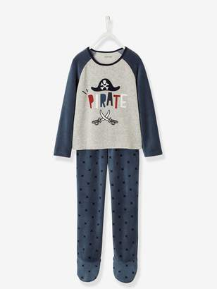 Vertbaudet Footed Velour Pyjamas for Boys
