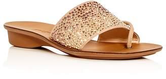 Paul Green Women's Pixie Embellished Nubuck Leather Slide Sandals