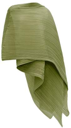 Pleats Please Issey Miyake Madame T Pleated Scarf - Womens - Khaki