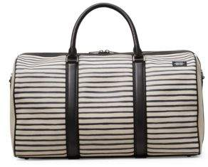 Jack Spade Industrial Canvas Striped Duffle Bag
