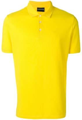 Emporio Armani ribbed polo T-shirt