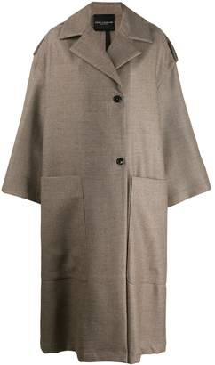 Cavallini Erika oversized wool coat