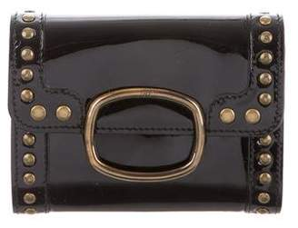 Roger Vivier Patent Leather Compact Wallet