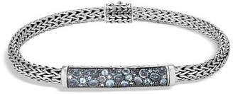 John Hardy Classic Chain Silver Stone Station Bracelet - 5mm