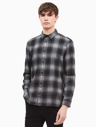 Calvin Klein slim fit montana plaid flannel shirt