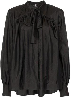 Rosie Assoulin Beading long-sleeved tie neck blouse