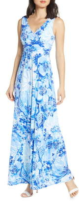 Lilly Pulitzer Sloane Floral Print Maxi Dress