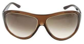 Tom Ford Women ANGUS TF25 Brown Gradient Sunglasses 65-14-120 mm