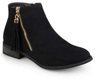 Co Brinley Womens Side Zip Faux Suede Ankle Boots