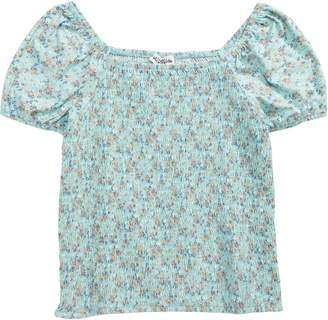 Ten Sixty Sherman Smocked Ditsy Floral Top