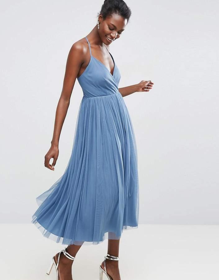 AsosASOS Pinny Extreme Tulle Mesh Midi Dress