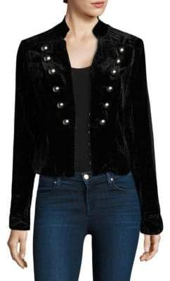 Nightcap Clothing Sgt. Breasted Velvet Blazer
