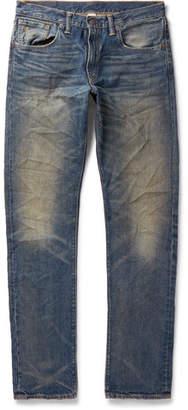 RRL Slim-Fit Distressed Denim Jeans