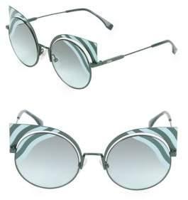 Fendi 42MM Rounded Cat Eye Sunglasses