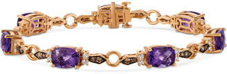 LeVian Le Vian Chocolatier Grape Amethyst (8-3/4 ct. t.w.) and Diamond (1 ct. t.w.) Link Bracelet in 14k Rose Gold