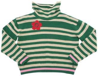 Simonetta Striped Wool & Cashmere Blend Sweater