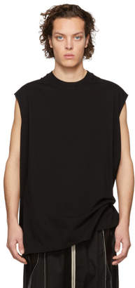 Rick Owens Black Tarp Sleeveless T-Shirt