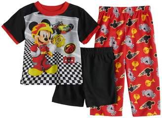 Disney Disney's Mickey & The Roadster Racers Top, Shorts & Pants Pajama Set
