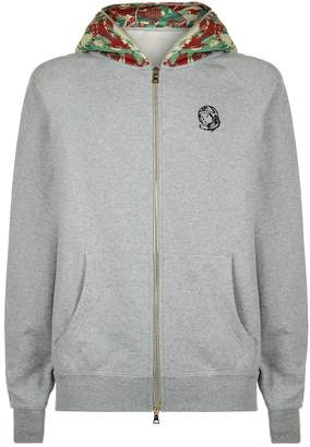 Billionaire Boys Club Contrast Hood Zip Up Hoodie