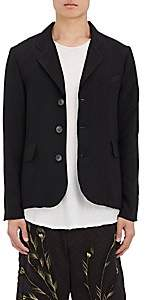 By Walid Men's Hussein Silk Three-Button Sportcoat - Black