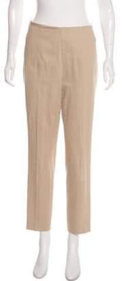 Akris High-Rise Straight-Leg Pants Brown High-Rise Straight-Leg Pants